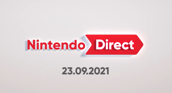 A title image reading 'Nintendo Direct'. A date below reads '23.09.2021'.