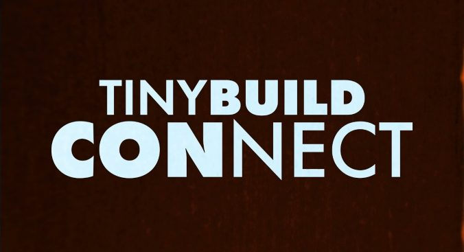 """Text set against a burgundy background, reading """"tinyBuild Connect"""""""